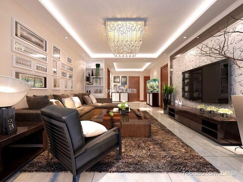 现代简约风格153平米3房2厅房子装饰效果图