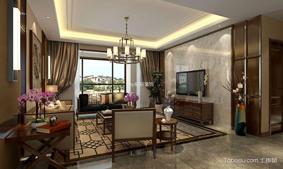 混搭风格134平米公寓房子装饰效果图