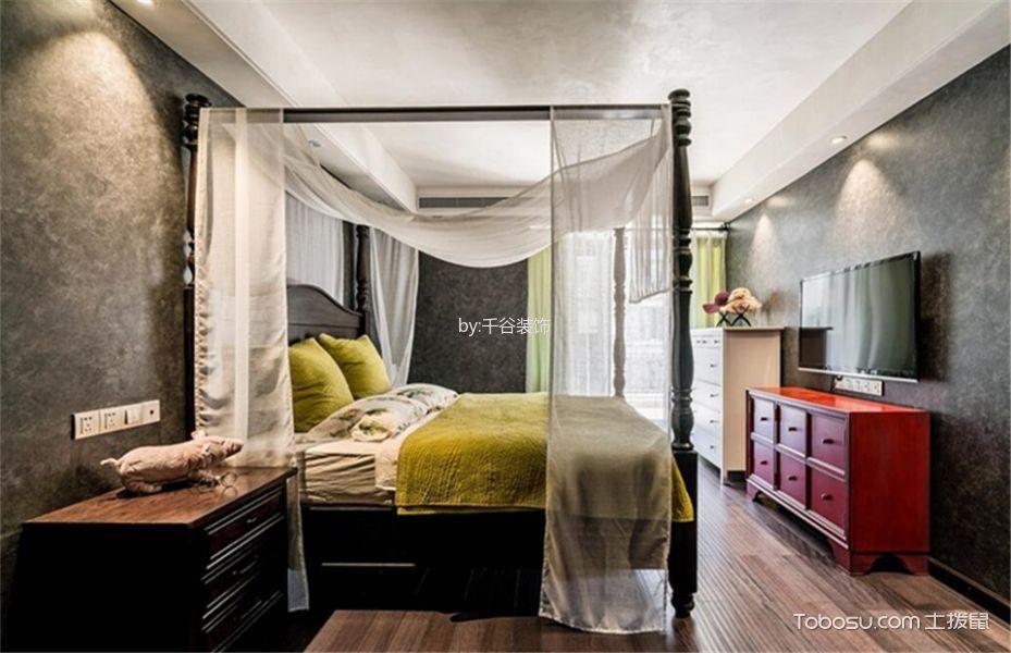 卧室 背景墙_混搭风格134平米3房2厅房子装饰效果图