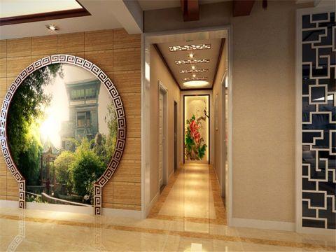 新中式风格110平米公寓新房装修效果图