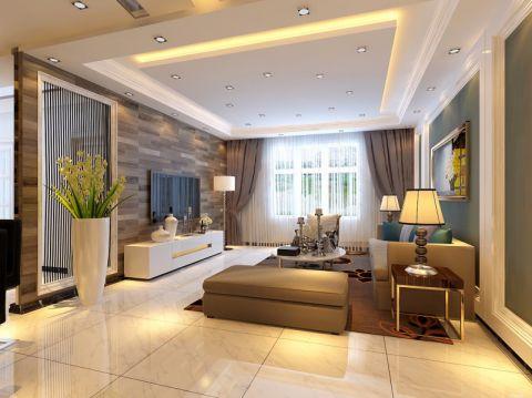 中泽纯境三居室现代简约风格效果图