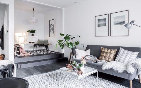现代简约风格50平米一室两厅室内装修效果图