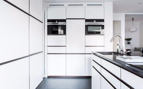 厨房地板砖现代简约风格装潢设计图片