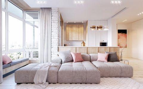 2020现代简约70平米设计图片 2020现代简约一居室装饰设计