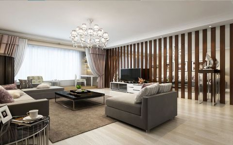 远大尚林苑现代简约风格一居室效果图