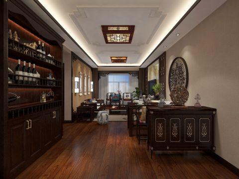 餐厅博古架中式风格装饰效果图