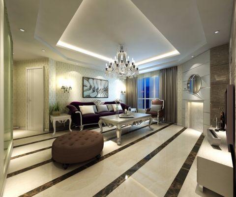 现代简约风格134平米大户型室内装修效果图