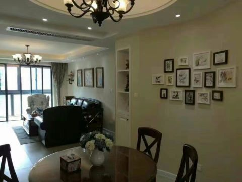 客厅吊顶美式风格效果图