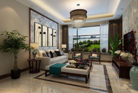 中式风格165平米3房2厅房子装饰效果图