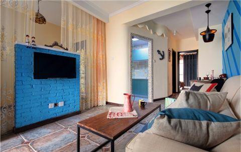 客厅走廊地中海风格装修设计图片