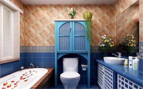 卫生间背景墙地中海风格装修图片