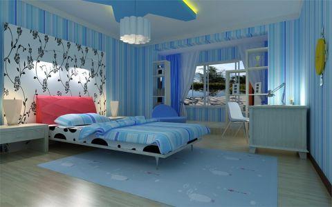 卧室背景墙地中海风格装潢图片