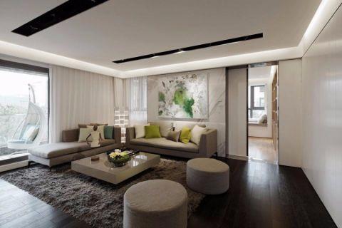 现代简约风格115平米三房两厅新房装修效果图