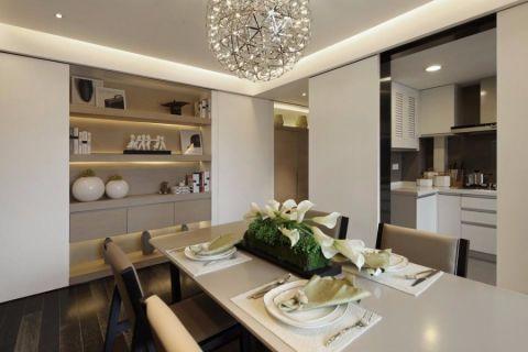 餐厅博古架现代简约风格效果图