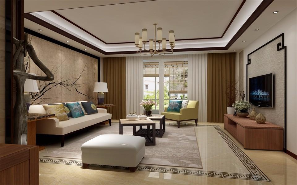3室2卫1厅143平米新中式风格