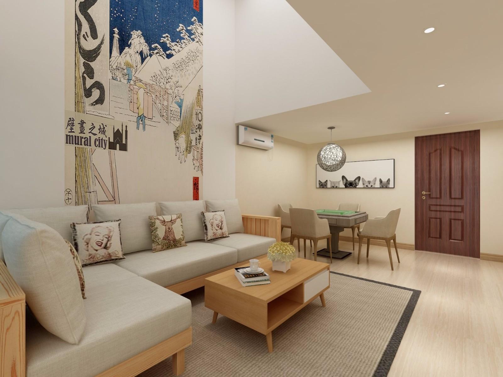 2室2卫1厅95平米日式风格