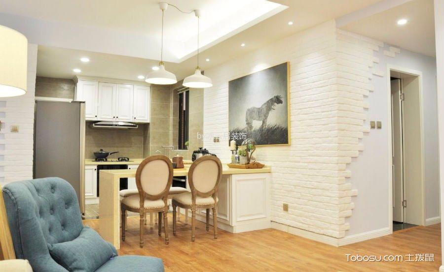 厨房白色吊顶混搭风格装修设计图片