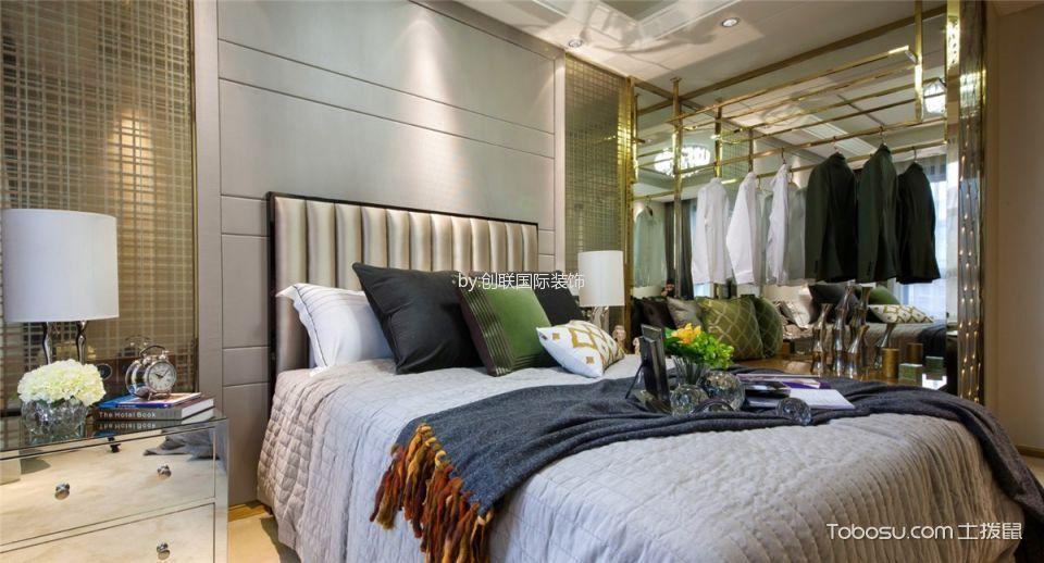 卧室白色背景墙现代简约风格装修效果图