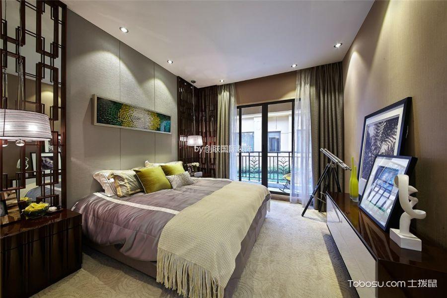 卧室灰色窗帘简约风格装饰图片