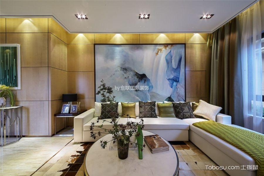 客厅彩色背景墙简约风格装饰设计图片