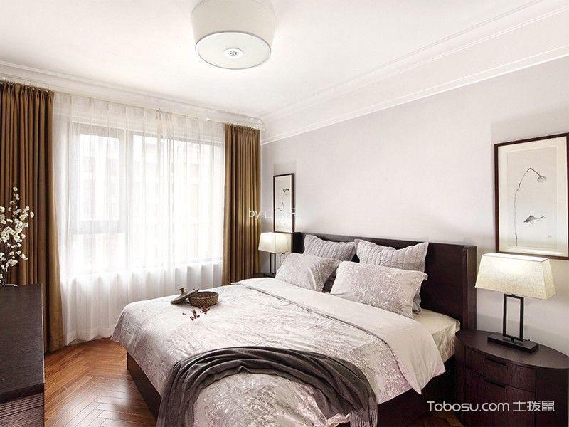 卧室黄色窗帘现代风格装修设计图片