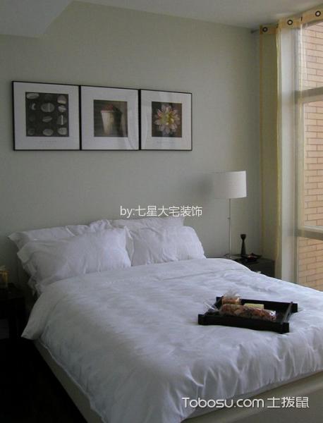 卧室灰色照片墙现代风格装修图片