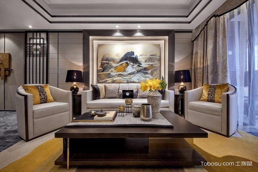新中式风格148平米4房2厅房子装饰效果图