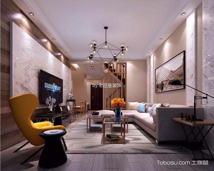 现代简约风格107平米复式房子装饰效果图