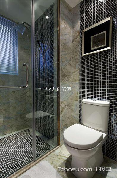卫生间 背景墙_中式风格110平米三室两厅室内装修效果图