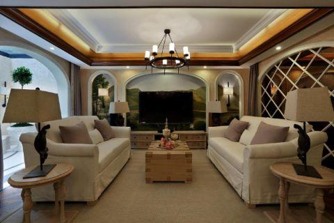 美式风格300平米别墅房子装饰效果图