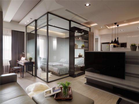 现代风格47平米小面积室内装修效果图