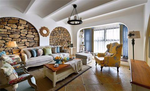 地中海风格180平米别墅室内装修效果图