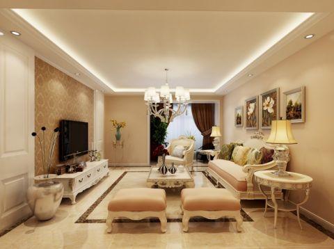 新古典风格100平米两室两厅室内装修效果图
