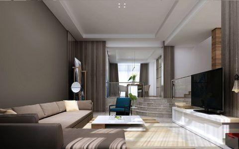现代简约风格165平米楼房房子装饰效果图