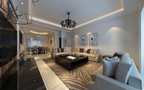 现代简约风格210平米大户型室内装修效果图
