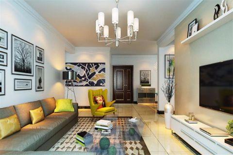 客厅照片墙现代简约风格装饰效果图
