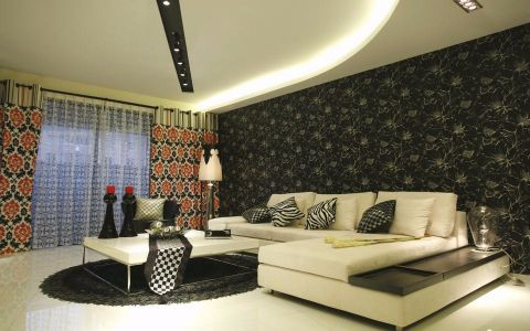 现代风格130平米三室两厅室内装修效果图