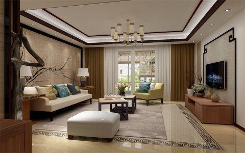 新中式风格143平米套房新房装修效果图
