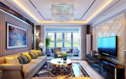 客厅灯具现代简约风格装修图片