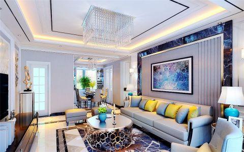 现代简约风格125平米3房2厅房子装饰效果图