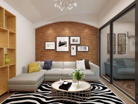 日式风格68平米两房两厅新房装修效果图