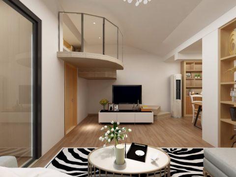 客厅吊顶日式风格装饰效果图