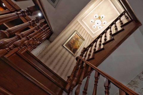 玄关楼梯新古典风格装饰图片