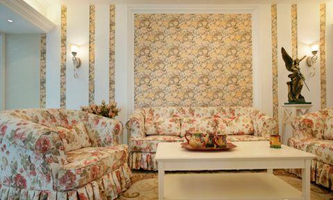 客厅背景墙田园风格装饰效果图