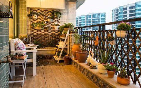 阳台背景墙地中海风格装修效果图