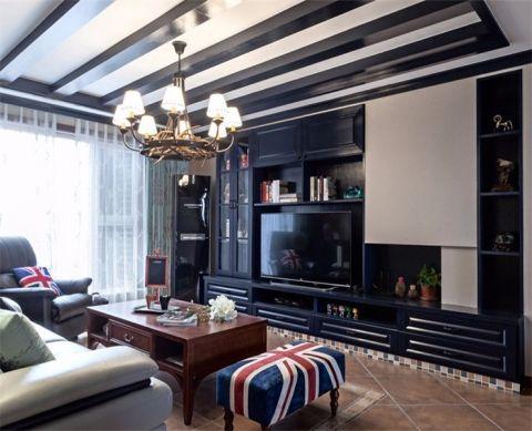 混搭风格120平米两房两厅新房装修效果图