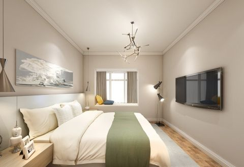 卧室背景墙北欧风格装饰效果图
