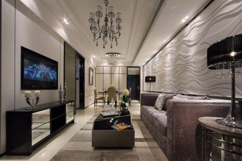 现代简约风格116平米三房两厅新房装修效果图