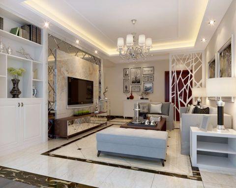 现代简约风格136平米三房两厅新房装修效果图