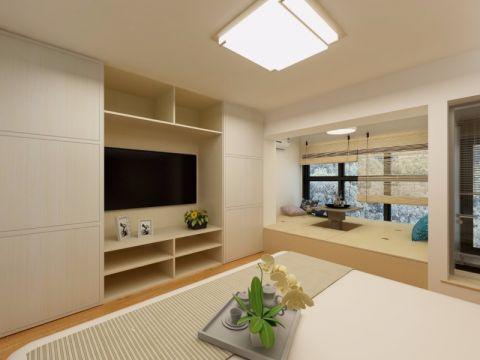 客厅榻榻米日式风格效果图